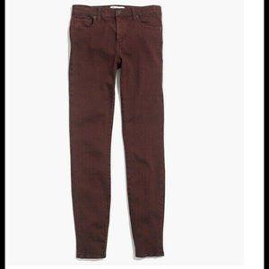 """Madewell 29 Skinny 9"""" High-Rise Jeans Garment Dye"""
